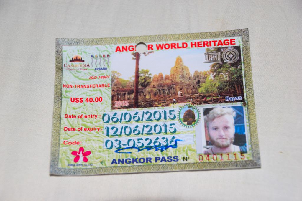 3 Tageskarte, 40 US $ innerhalb von 7 Tage einlösbar. Nicht das beste Bild von mir.