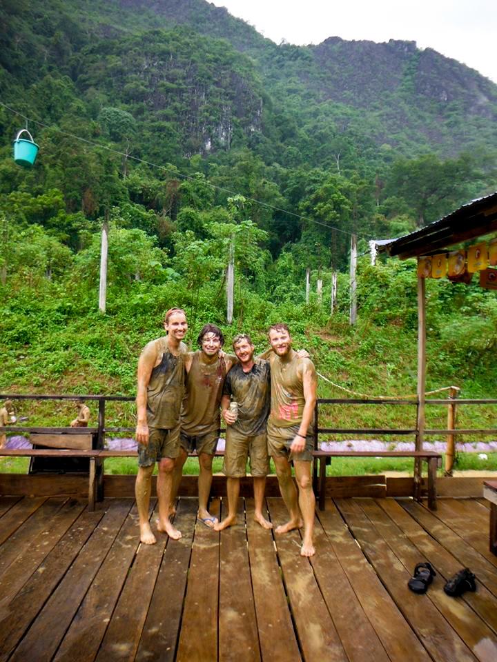 James, Andy, Stu und ich